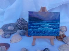 ARTFINDER: Miniature #007 - Easel included by Gianluca Cremonesi - This is an original miniature oil on canvas, 9 x 7 cm (3.5 x 2.8 inches), it comes with a miniature easel included.  They can be a lovely spot of color on ...