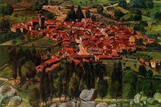 Vista de un pueblo. Obra de Benjamín Palencia