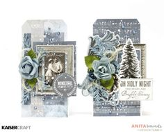 Wonderful Moments and Oh Holy Night Tag By Anita Bownds Kaisercraft Frosted