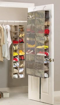 Brilliant Feet - Large Heavy Duty 18 Pocket Hanging Shoe Organiser for the Wardrobe Rail or Over Door for up to 18 Pairs - Robust Oxford Canvas Type Beige Material with Ventilated Mesh Compartments - 34 x 138 x or 60 x 138 x - Shoe Shoe Organiser, Hanging Shoe Organizer, Smart Furniture, Closet Space, Closet Storage, Diy Home Crafts, My New Room, Organization Hacks, Getting Organized