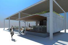 EVM_Bluefin-Infografía 02 #arquitectura #architecture #kiosco #terraza #marmol #marble