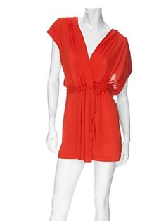 DVF Coral Romper + Turquoise ring + tan = Jaw Dropping Summer Getaway Goodness  #INTERMIXPureWow