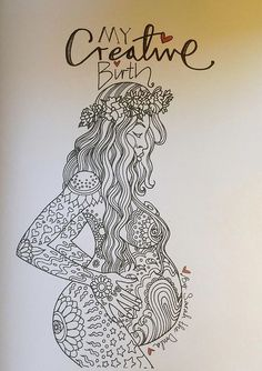 Sarah The Doula | My Creative Birth colouring book