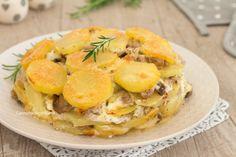 Torta di patate salsiccia e funghi