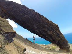 Koko Head, Honolulu, Oahu, Hawaii — by Maddie Hayes. Short (but slightly sketchy) hike to the Koko Crater Arch in Oahu. Gorgeous views of the east side! #hawaii #blue