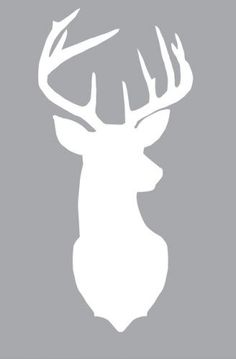 Deer Head Silhouette. Free printout. A modern take on our love for hunting :)