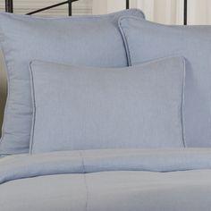 Seersucker Pillow Sham Blue Black or Red and White Stripe