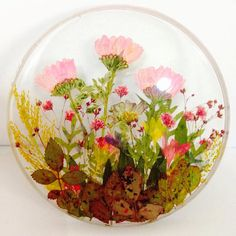 Pressed Flower Coaster-Resin Coaster-Nature by PremaFlowerFairy
