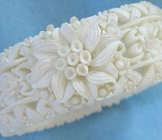 Celluloid Clamper Bracelet,1940s, BuyVintageJewelry, $30.00