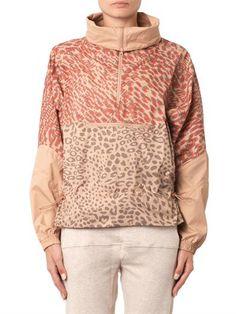 Adidas by Stella Mccartney Leopard-print lightweight jacket