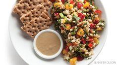 Vegan+Challenge+Recipe:+Butternut+Squash+Barley+Kale+Salad