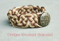DIY Ombre Knotted Bracelet by marie