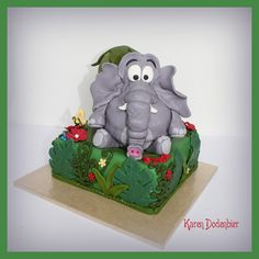 My first 3D elephant cake.