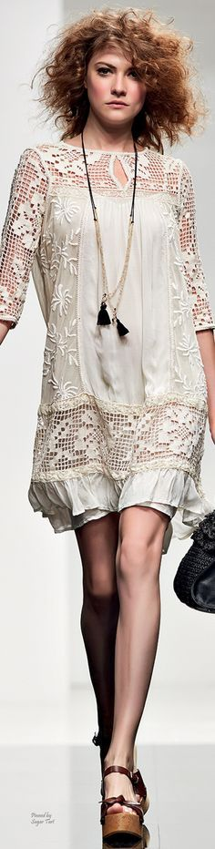 @roressclothes closet ideas women fashion outfit clothing style apparel Simona Barbieri - Twin Set S/S 2015 RTW
