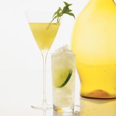 INGREDIENTS 3 basil leaves, plus 1 basil sprig 1/4 ounce Simple Syrup Ice 2 ounces gin 1/2 ounce limoncello 1/2 ounce bianco vermouth (sweet white vermouth) 1/2 ounce fresh lemon juice