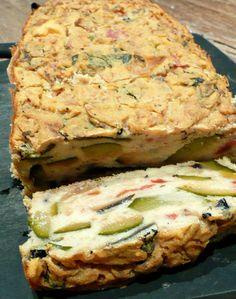 Cake ratatouille a la farine de pois chiches