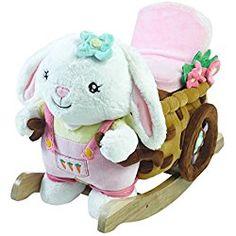 Rockabye Kid's Beatrice Bunny Play & Rock Ride-On Rocker, Multi