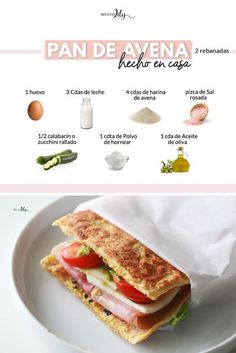 Easy Cookie Recipes, Diet Recipes, Healthy Recipes, Avena Recipe, Vegan Gluten Free, Summer Recipes, Sandwiches, Brunch, Food And Drink