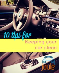 Easy tips for keeping your car clean! Have a hard time keeping your car spin and span? Follow these easy (really!) tips to keep your clean.