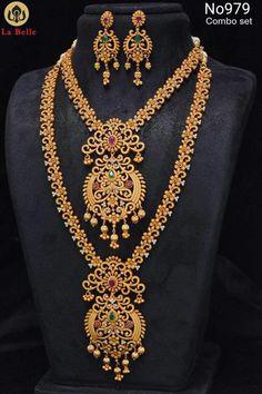 Gold Jewelry With Price Key: 8902368858 Gold Temple Jewellery, Gold Jewellery Design, Gold Jewelry, Fancy Jewellery, Gold Necklaces, Emerald Jewelry, Jewelery, Indian Wedding Jewelry, Bridal Jewelry