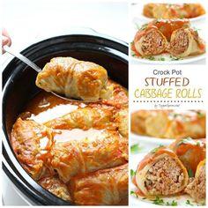 Crockpot Stuffed Cabbage Rolls