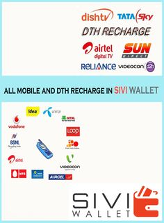 Fast and Easy Recharge for Prepaid, Postpaid and DTH. www.siviwallet.com #SIVIWALLET #MOBILERECHARGE #DTH