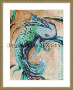 Fish cross stitch pattern - modern counted cross stitch - Ghoti Extract Mini…