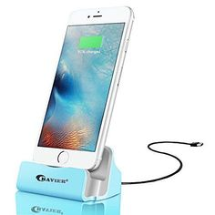 Enjoy an easier, smarter life with this iPhone Charger Dock.  Please note:  If you find the charging dock doesn't work, please take off the case from your phone temporally just when you charge.   Made of Spray-Painted Aluminum, sleek body with metallic luster, designed for charging at the office or in your kitchen, bedroom or study, the desktop charging dock makes charging easier than ever.