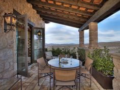 Spanish Dining Balcony Image courtesy of Gene Northup of Synergy Sotheby's International Realty. Tuscan Outdoors from Thom Oppelt on HGTV