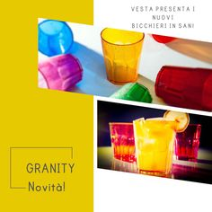Vesta Srl presenta i nuovi bicchieri Granity in san. Vivaci, pratici e leggeri.Ideali per colorare le vostre tavole o per un coctktail con gli amici en plain air! Venite a scoprirli e a fare un brindisi con noi!