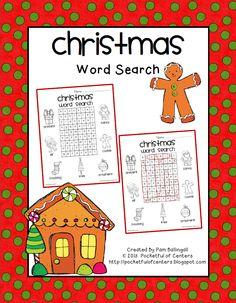 Christmas Word Search {Freebie}