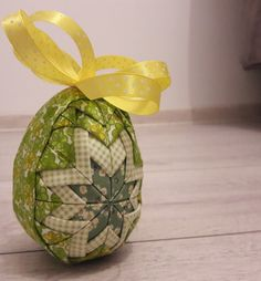 Easter patchwork green & yellow