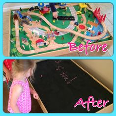 Train Table Makeover. Our Kids Were Getting Older And Not Interested In  Playing With The