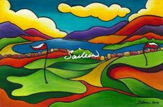 Four Shore Fine Art Print by Saileen A view from the beautiful natural links golf course in Mulranny, on the edge of Clew Bay. Available in: Limited Edition 26 inches Greeting Cards inches Fine Art Prints inches Large Canvas, Canvas Art, Golf Painting, Golf Art, Fairy Tree, Designs To Draw, Clear Acrylic, Painted Rocks, Fine Art Prints