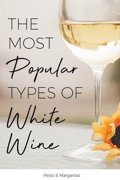 White wine is my favourite and comes in a wide range of different types.  Learn about the most popular types of white wine, how to cook and store white wine and even what glasses are best to drink it from.  Start your white wine learning and pick the perfect bottle every time! #whitewine #wine #winelover Types Of White Wine, Types Of Wine, Wine Chart, Sweet White Wine, Wine Mom, Wine Guide, Wine Reviews, Wine Decor, Sparkling Wine
