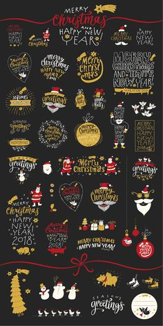 Christmas Calligraphic Badge Pack - Illustrations - 5