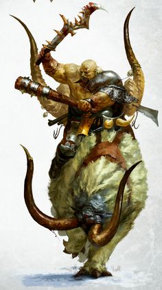 http://wellofeternitypl.blogspot.com Age of Sigmar Artwork | Beastclaw Riders…