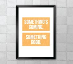 Something's Coming  West Side Story  Song Lyric Quote by LyricWall, $9.62