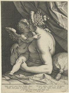 Venus kisses Amor by Cornelius Galle, the elder, 1586-1612. Rijksmuseum, Public Domain