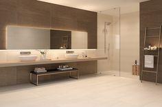 Grandes formatos - Tendencias - Hazlo con Cerámicos Bathroom Lighting, Mirror, Furniture, Home Decor, Houses, Apartment Bathroom Design, Trends, Bathroom Light Fittings, Bathroom Vanity Lighting