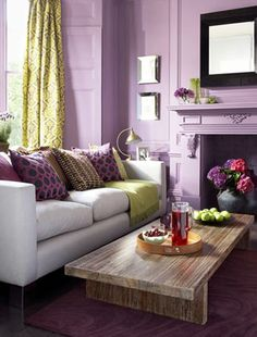 1000 images about interior purple green on pinterest for Purple and green living room ideas