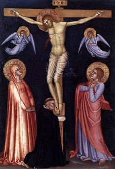 This is a beautiful crucifixion painting by Andrea da Firenze