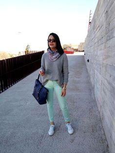 Zara Cabañes Blog: GREY, MINT AND KLEIN - LOOK 278
