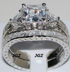 Sterling Silver 4.5 Ct Princess Cut Antique Bridal Set * Sz 7 * New *. Sterling Silver 4.5 Ct Princess Cut Antique Bridal Set * Sz 7 * New * on Tradesy Weddings (formerly Recycled Bride), the world's largest wedding marketplace. Price $134.28...Could You Get it For Less? Click Now to Find Out!