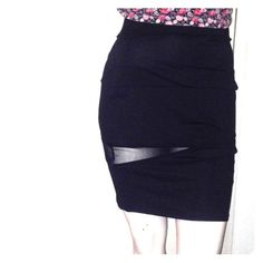 Sexy black skirt with mesh slits size 2x Baby Phat This sexy black skirt has mesh slits. It can be worn for any occasion size 1x new with tags Baby Phat Skirts