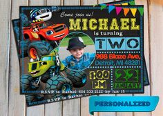 Blaze and the monster machines invitation Blaze and the