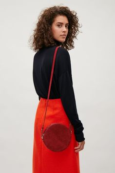 COS image 9 of Circular shoulder bag in Red