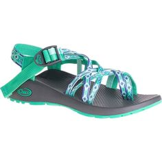 Chaco Women's ZX/2 Classic Marina Mint Water Shoes ($105) ❤ liked on Polyvore featuring shoes, green, chaco shoes, lock shoes, antimicrobial shoes, chaco footwear and wrap shoes