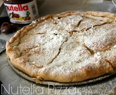 ~Nutella Pizza! A typically dessert when visiting a house in the country. These coming out of a brick pizza oven are purely devine!
