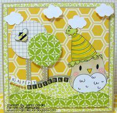 Chi Chi Memories digital stamp  Birthday card made by Yenni Natalia  For overload cuteness, visit http://www.chichimemories.com